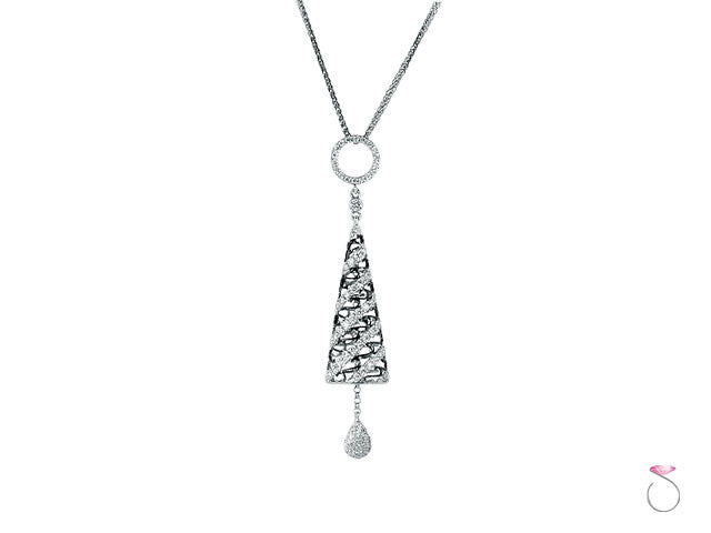 Diamond 0.53ct cone pendant in 18K white gold