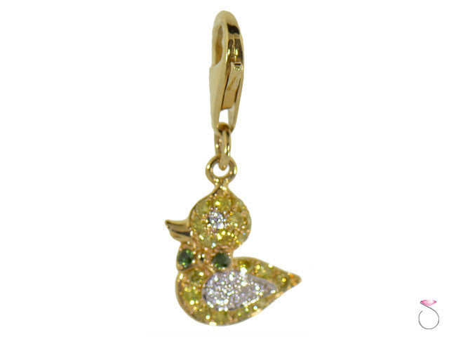 Details about  /New Real Solid 14K Gold Silhouette Duckie Charm Pendant