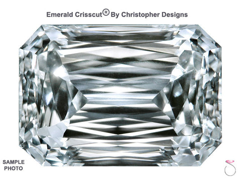 Emerald Crisscut Diamond GIA Certified 1.51ct J-SI1