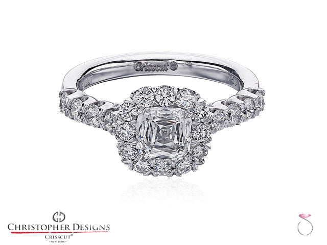 Christopher Designs Halo Diamond Engagement Ring G52-CU100