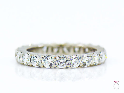 Harry Winston Diamond Platinum Eternity Band 3.00 mm 2.40 ct.