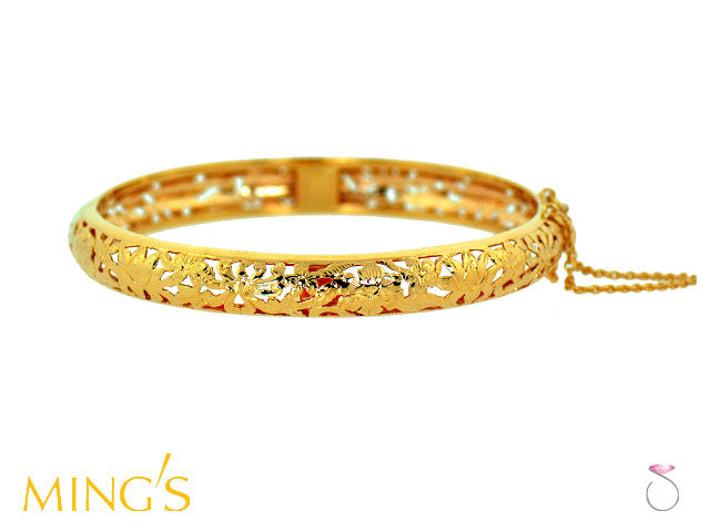 Ming's Bracelet 4 Seasons Floral in 14K Yellow Gold Hawaii online sale