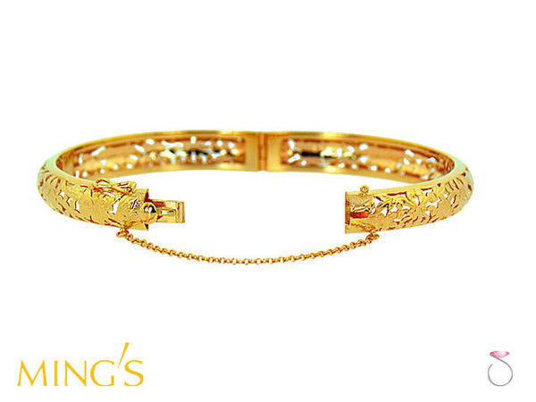 Ming's Hawaii Bracelet 4 Seasons Floral in 14K Yellow Gold ...