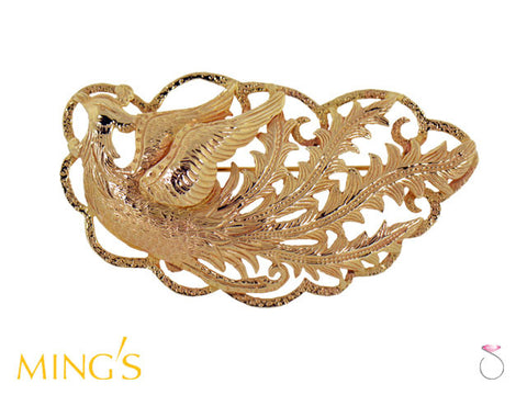 Ming's Brooch Phoenix  in 14K Yellow Gold