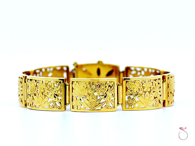 Ming's Hawaii 14K Yellow Gold Four Seasons Sectional Bracelet