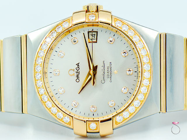 Omega Constellation Co-Axial 35mm 2 Tone, Red Gold & Steel 123.25.35.20.58.001