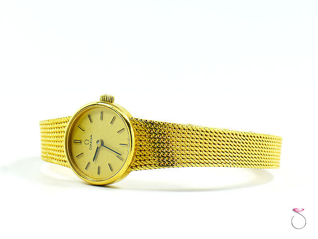 Omega Authorized Dealer >> VINTAGE OMEGA 18K YELLOW GOLD LADIES WATCH 711.7280 – SBEJ