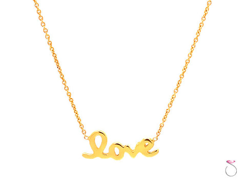 Roberto Coin Love Necklace, 18K Yellow Gold.