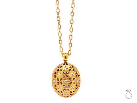 Roberto Coin Granada Diamond and Ruby Locket Pendant On Chain