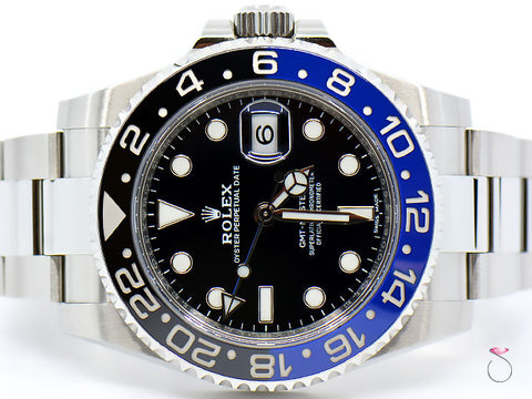 Rolex GMT-MASTER II Batman 116710BLNR SS Mens Watch