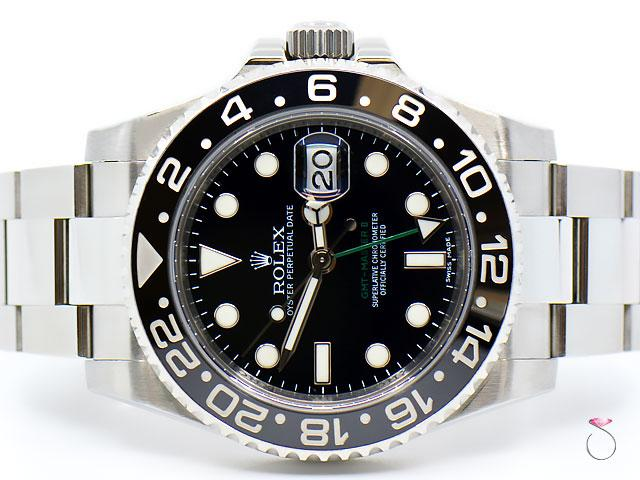 Rolex GMT-MASTER II 116710LN Mens Stainless Steel Black Dial Ceramic Bezel 40MM