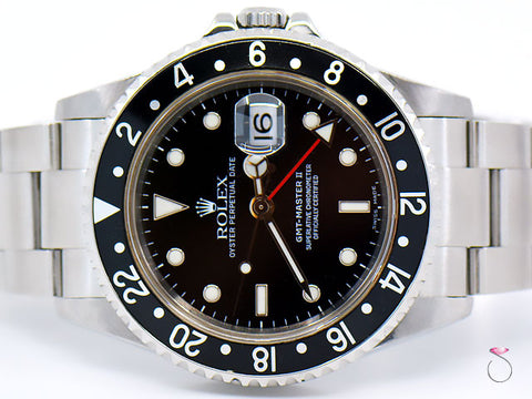 ROLEX GMT-MASTER II STAINLESS STEEL 40mm, MEN'S 16710 T