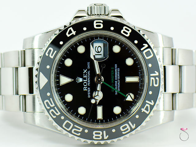 Rolex GMT-MASTER II 116710 LN Mens Stainless Steel Black Dial Ceramic Bezel 40MM