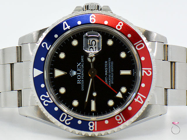 Rolex GMT-Master 40mm Pepsi Blue & Red Stainless Steel Men's Watch 16700