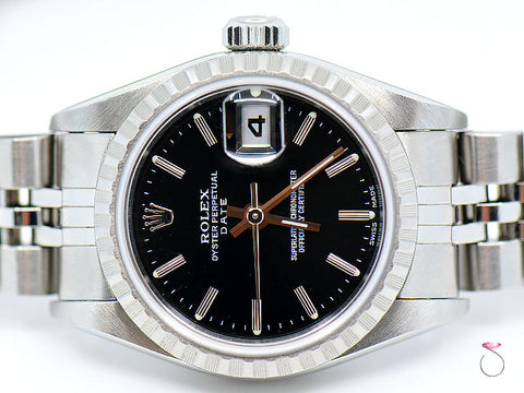 ROLEX 79240 Oyster Perpetual Date SS Automatic Ladies Watch