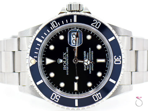 ROLEX 16610 SUBMARINER STAINLESS STEEL 40mm WATCH