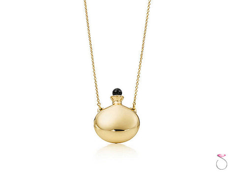 Tiffany & Co. Elsa Peretti Round Bottle Pendant on Long Chain
