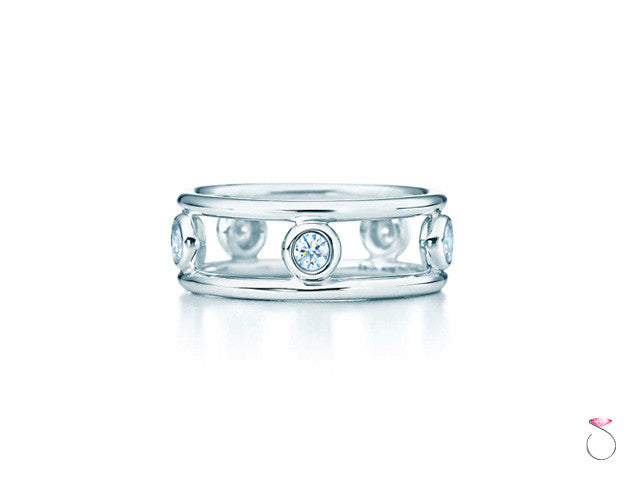 Tiffany & Co. Platinum, Diamond By the Yard Ring.