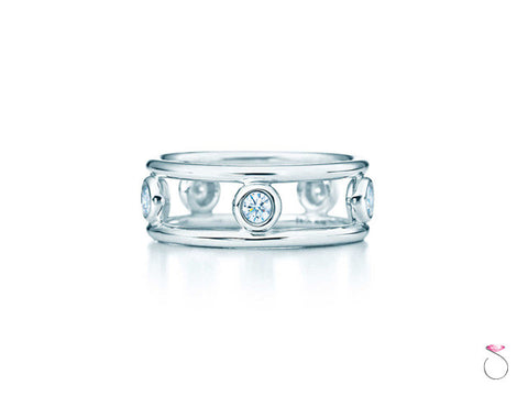 Tiffany & Co. Diamond By the Yard Ring in Platinum