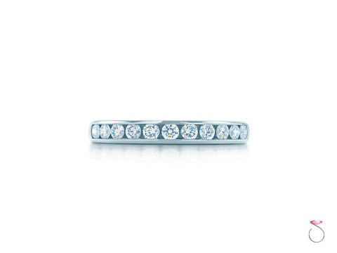 Tiffany & Co Platinum Diamond Wedding Band