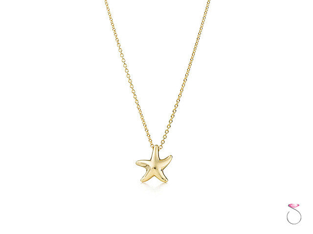 Tiffany & co. 18k Starfish pendant by Elsa Peretti