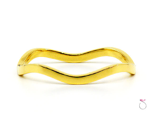 Tiffany & Co. 18K Yellow Gold Wave Hinged Bracelet
