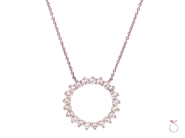 Tiffany & Co Open Circle Diamond Pendant In Platinum
