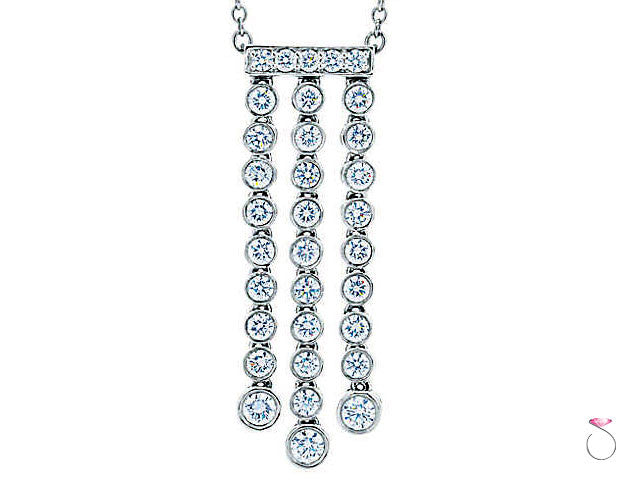 Tiffany & Co. Jazz Triple Drop Pendant Necklace