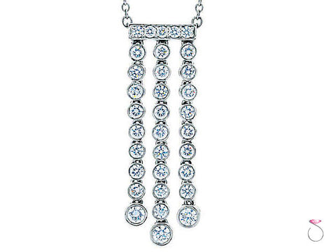 Tiffany & Co. Jazz Triple Drop Diamond Pendant Necklace