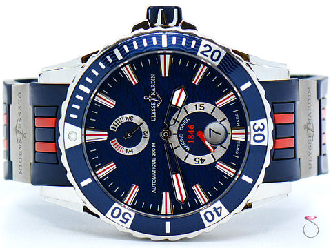 Ulysse Nardin Maxi Marine Diver 263-10-3R/93, 44mm on Blue & Red Rubber Strap