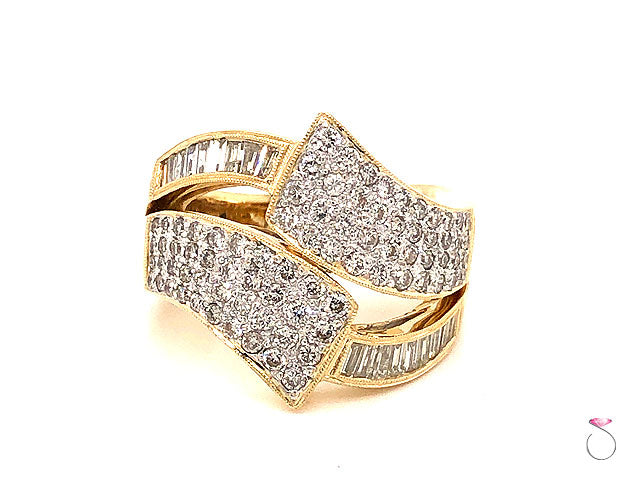 Huge Diamond Cocktail Ring 2.50 ct. G, VS in 18K Yellow Gold