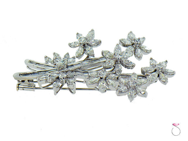 Antique Estate Diamond Brooch Hawaii online sale