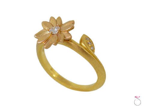 Daisy Morelli Diamond Yellow Gold Ring 1/10ct in 18K