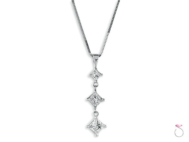 Diamond Dangle Pendants Hawaii 1.50ct