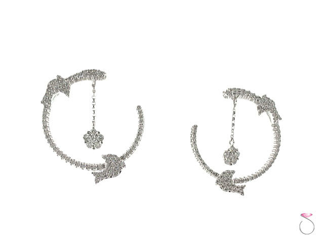 Dolphin Diamond Earrings Hawaii