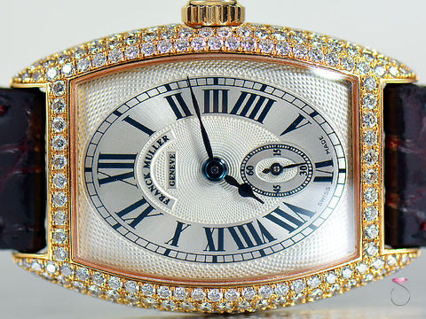 Franck Muller Cintree Curvex Pink Gold & Diamond Tonneau Watch