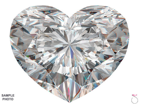 Heart Shaped Diamond GIA Certified 1.01ct F-SI1