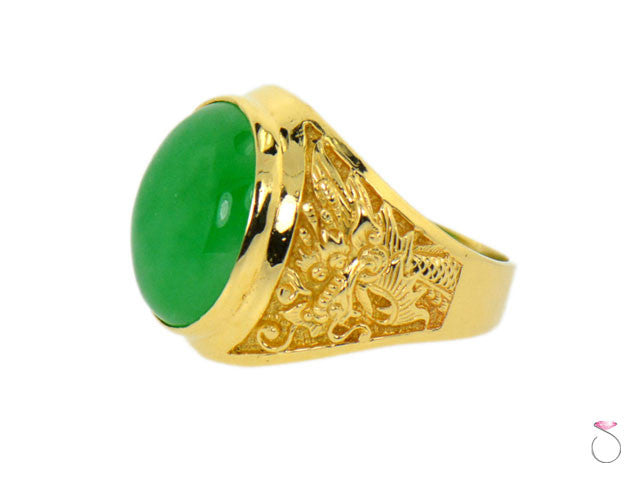 Jade dragon ring Hawaii