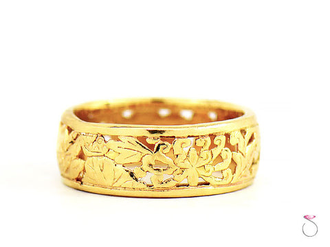 MING'S HAWAII FOUR SEASONS BAND RING. 14K Gold
