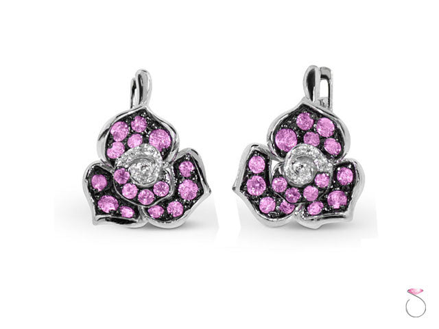 pink sapphire earrings Hawaii