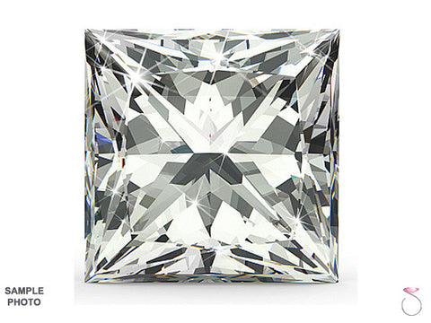 Princess cut Diamond 0.71 ct H-VS2 GIA Certified