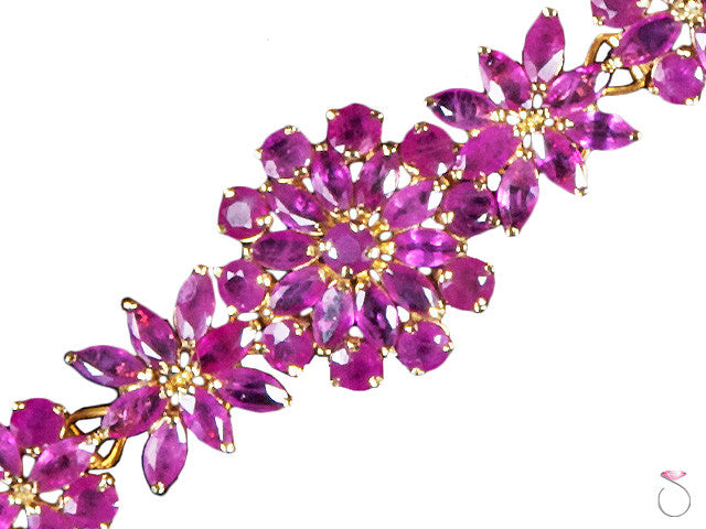 Red 11ct Ruby Gold bracelet online sale Honolulu Hawaii