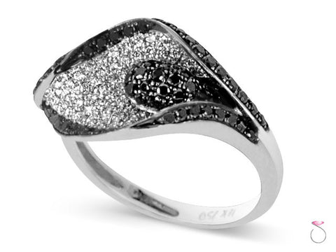 BW 1.12ct Diamond Flamingo Lily Ring in 18K White Gold