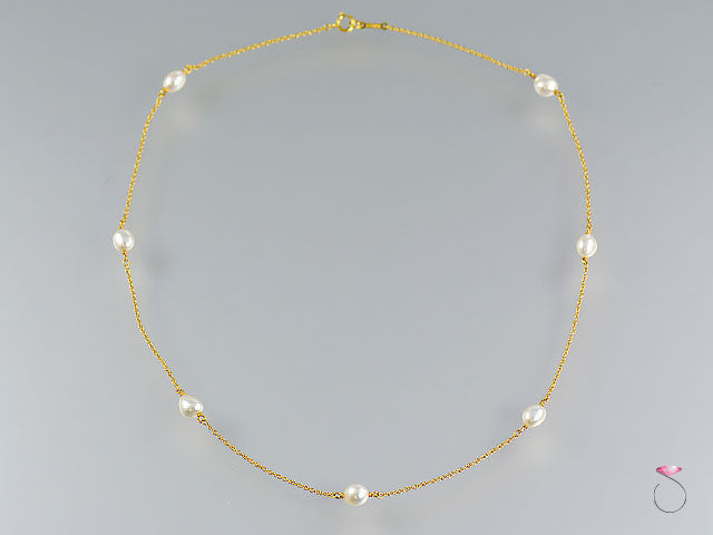Tiffany & Co. Elsa Peretti Pearls By The Yard Sprinkle Necklace in 18K yello gold