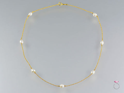 Tiffany & Co. Elsa Peretti Pearls By The Yard Sprinkle Necklace in 18K