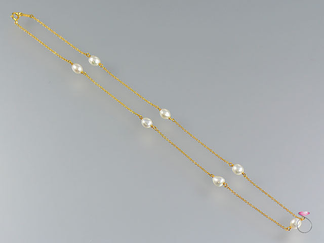 58c57853c Authentic Tiffany & Co. Elsa Peretti Pearls By The Yard Sprinkle Necklace  in 18K yellow