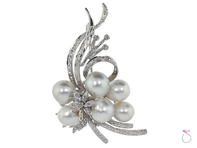 Estaste Antique Floral Pearls Brooch online sale