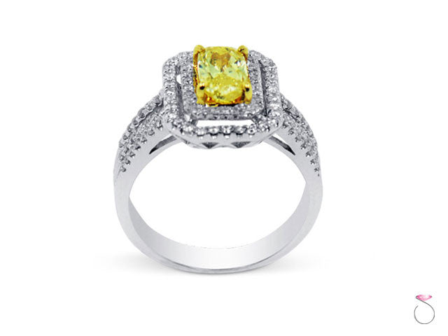 Yellow Diamond Engagement Ring Hawaii Sale