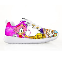 NOISYDESIGNS Fashion Shoes For Kids Lightweight Mesh Children Sneakers Girls Boys Sonic The hedgehog Printed Sports Running Shoe-thumbnail