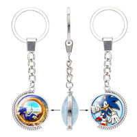 Double Sided Sonic Keychain-thumbnail
